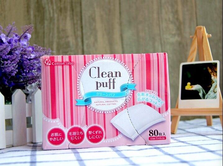 COTTON LABO Clean puff net makeup cotton makeup remover 80 cotton 2 boxesdescription