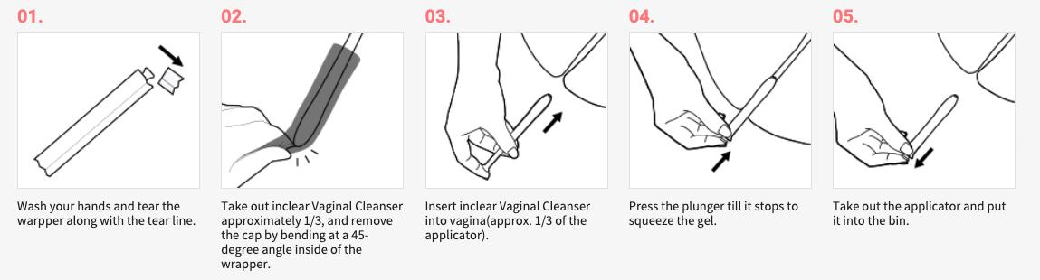 Inclear Disposable Feminine Cleansing Gel 10 PCSdescription