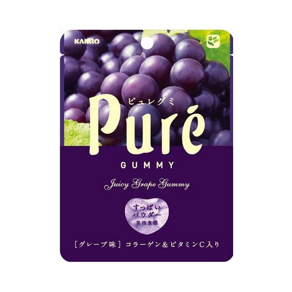 Kanro Pure Collagen VC elastic fruit jelly 56g-detail-image1