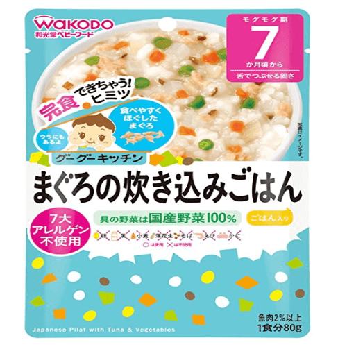 和光堂辅食 婴儿金枪鱼烩饭七月以上宝宝可食用80g*6包-详情-图片1
