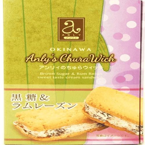 冲绳 黑糖葡萄干朗姆酒夹心/菠萝香蕉夹心饼干 -详情-图片1