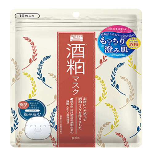 日本PDC酒粕酒糟免洗型面膜 10枚入-详情-图片1