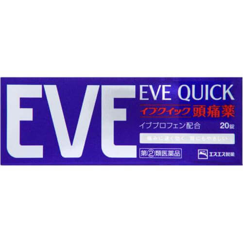 EVE Quick Painkiller Headache Pain Relief Sugar Coated 40 Tablets Made in Japan-detail-image1