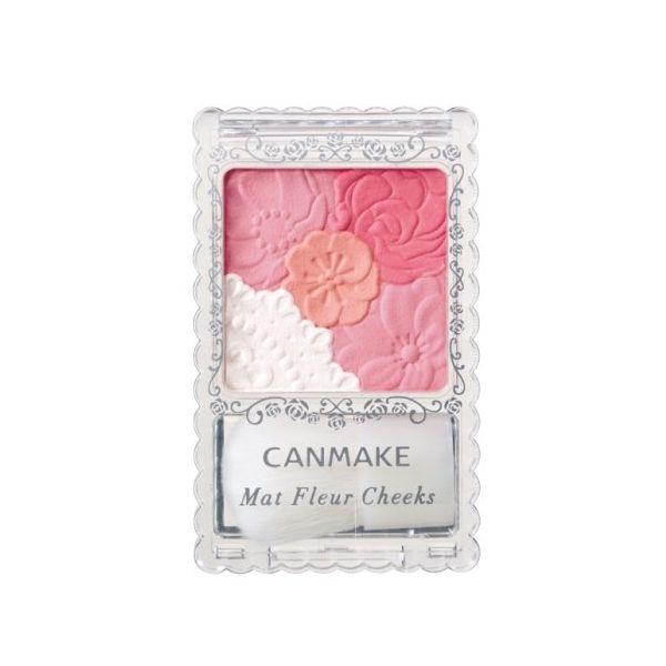canmake2014年11月新版花瓣亚光腮红三色选 Mat Fleur Cheeks -详情-图片1