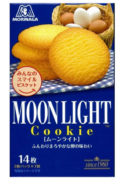 森永MOONLIGHT月光牛油小麦曲奇饼14枚D-详情-图片1