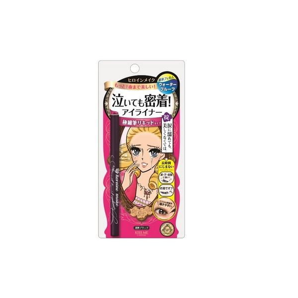 Isehan Kiss Me Heroine Make Smooth Liquid Eyeliner UltraSlim 0.1mm Black-detail-image1