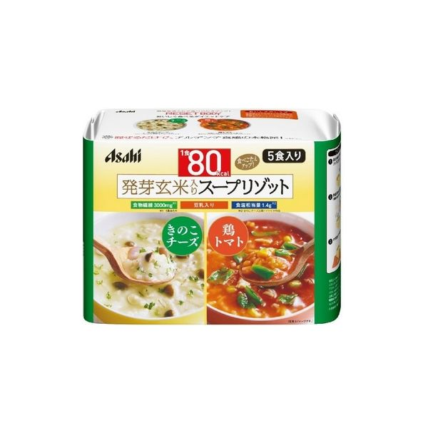 ASAHI mushroom cheese and chicken tomato porridge 5 pack-detail-image1