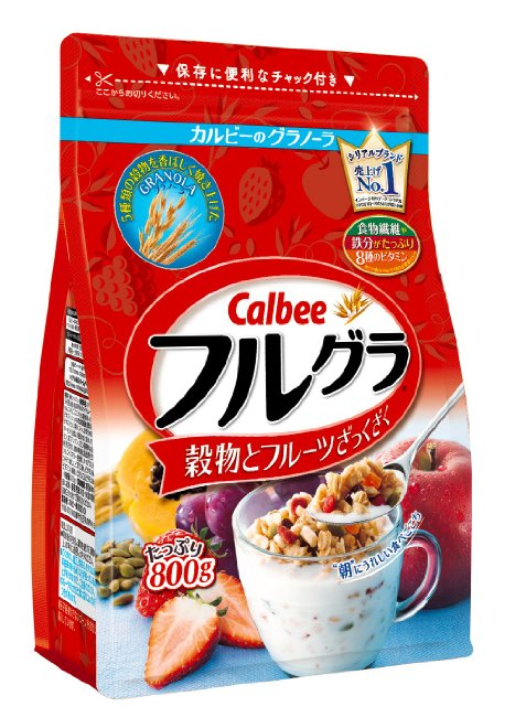 Calbee卡樂比水果顆粒果仁谷物營養麥片800g-詳情-圖片1