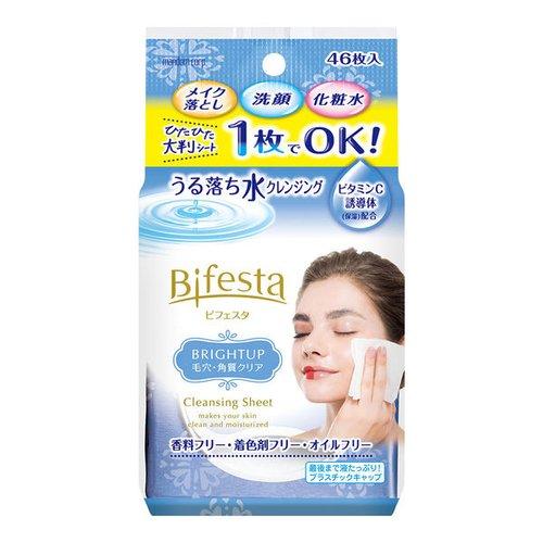 曼丹mandom Bifesta 缤若诗抽取式卸妆湿巾透亮型46枚入-澳洲-日本代购直邮- Hommi