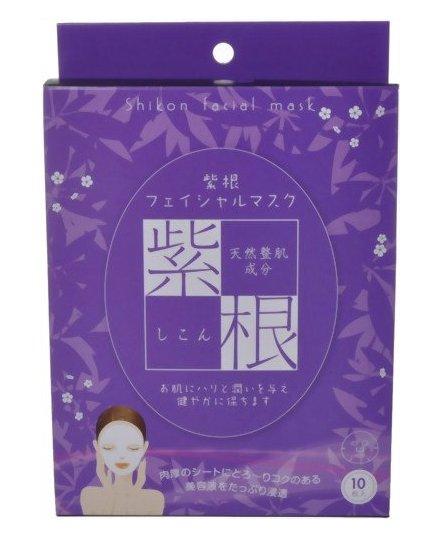 紫根美白淡化细纹天然保湿补水提亮肤色整肌面膜10枚装-详情-图片1