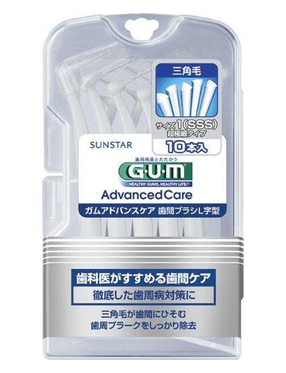 GUM牙縫刷 L型牙間刷 牙齒矯正齒縫刷SSS-L號10個入-詳情-圖片1