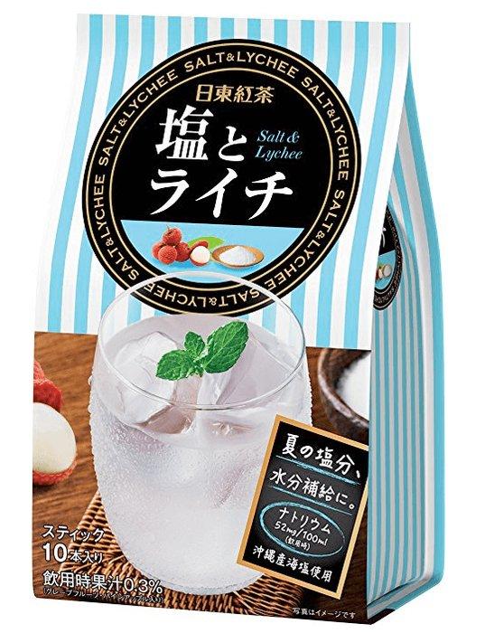 日东红茶冲绳海盐淡盐荔枝果茶补水补盐10支速溶-详情-图片1