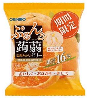 ORIHIRO蒟蒻果冻 葡萄味/桃子味/荔枝味果汁满满6个入D-详情-图片1