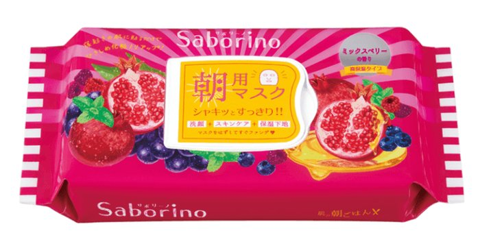 BCL Saborino Moisturizing Mask Raspberry 28 P-detail-image1