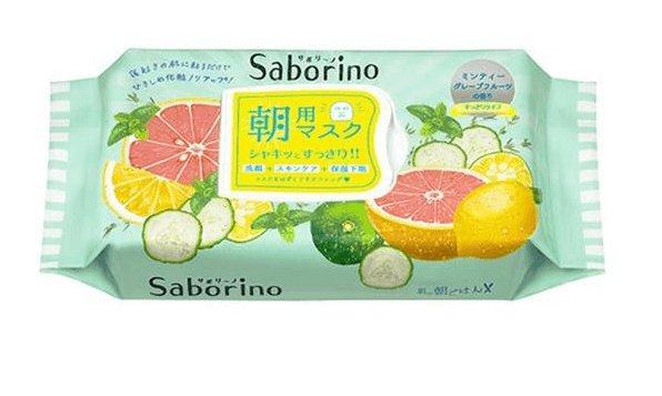Saborino morning 60 seconds lazy moisturizing lemon  mask 32 pieces-detail-image1