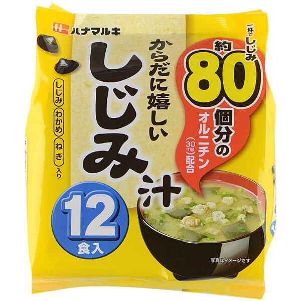 ハナマルキ喝酒人士必备护肝排毒 速食蛤蜊汤 12袋入-详情-图片1