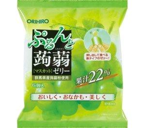 ORIHIRO蒟蒻果凍 葡萄味/桃子味 /荔枝味果汁滿滿6個入D-詳情-圖片1