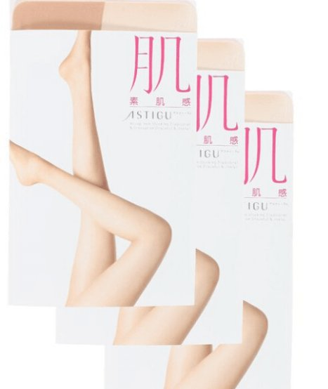 "Atsugi Astigu Tights ""Skin"" Stockings Three pairs-detail-image1"