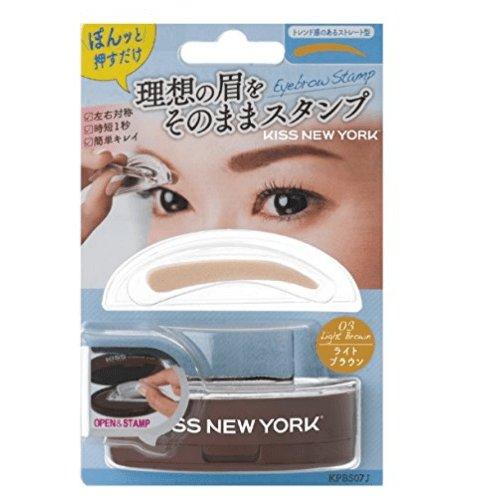 KISS NEW YORK 一次成型印章式眉粉 一字眉柳叶眉两款选-详情-图片1