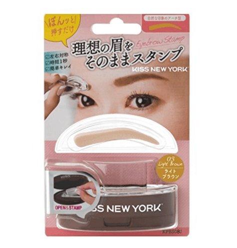 KISS NEW YORK 一次成型印章式眉粉 一字眉柳叶眉两款选-详情-图片2