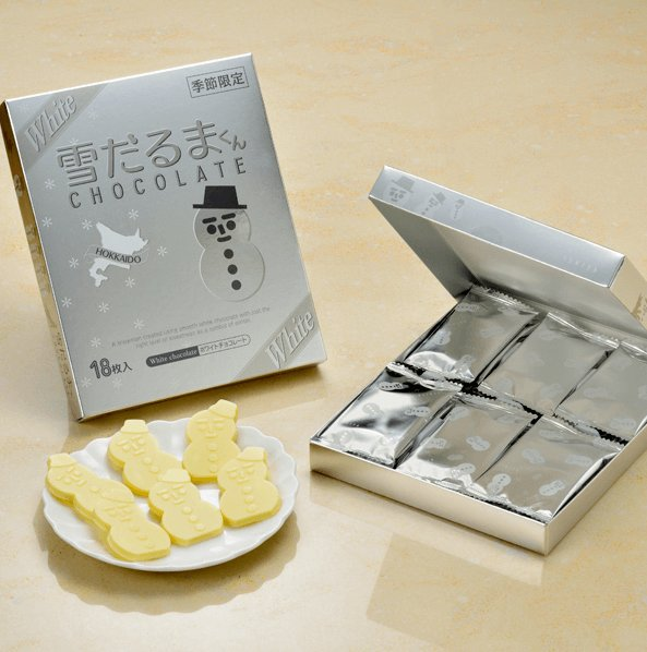 北海道白色恋人限定雪人巧克力白巧18枚盒装-详情-图片1