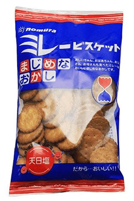 日本野村植物油全麦粗粮健康饼干天日盐小饼干130g-详情-图片1