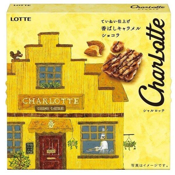 乐天LOTTE夏洛特浓郁焦糖巧克力脆饼-详情-图片1