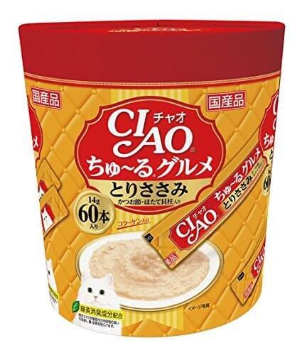 伊納寶 INABA 啾嚕Ciao Churu 貓糧雞肉/魚肉泥14g×60根-詳情-圖片1