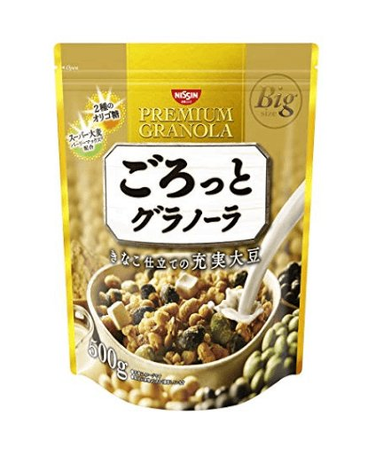 Nissin Cisco Rough Sprinkle Granola Soybean 500 g-detail-image1