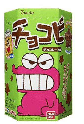 蠟筆小新最愛tohato桃哈多巧克力味粟米餅干鳄魚 一盒/六盒D-詳情-圖片1