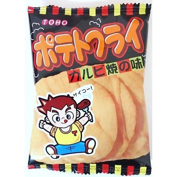 Toho-seika Barbecue flavor potato chips 11g 1 bags / 20 bags-detail-image1