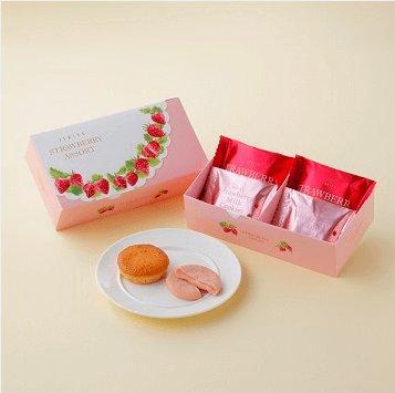 白色恋人春季限定草莓蛋糕 草莓牛奶夹心饼干混合装-详情-图片1
