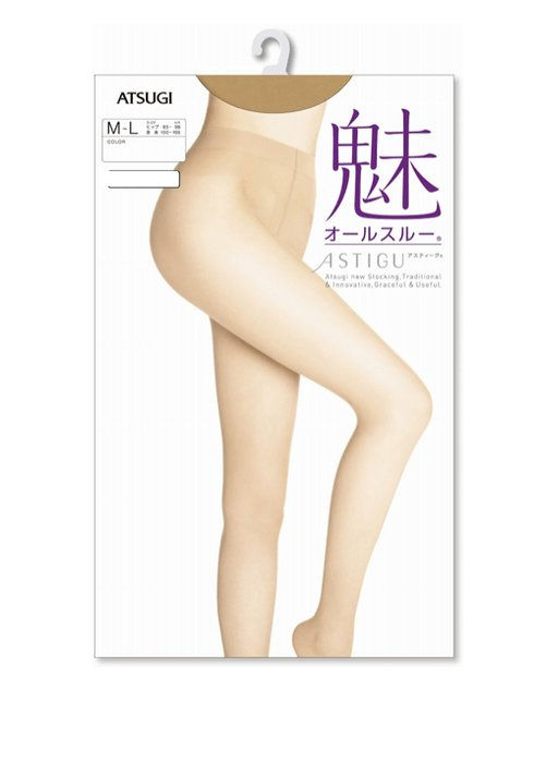 ATSUGI厚木 ASTIGU系列 魅 单腿整体编织 无痕连裤丝袜3双入-详情-图片1