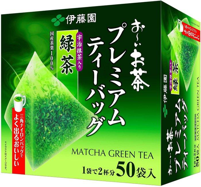 伊藤園 抹茶入綠茶 優質綠茶 三角茶包 50袋-詳情-圖片2