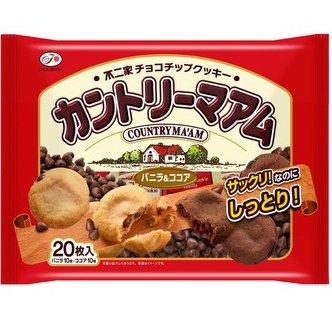 不二家巧克力餅干 香草可可兩種20枚 外酥脆內柔滑 D-詳情-圖片1