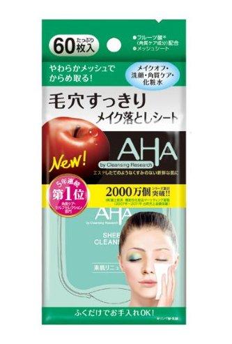 AHA 果酸柔膚四合一去角質卸妝濕巾 60枚入 H-詳情-圖片1