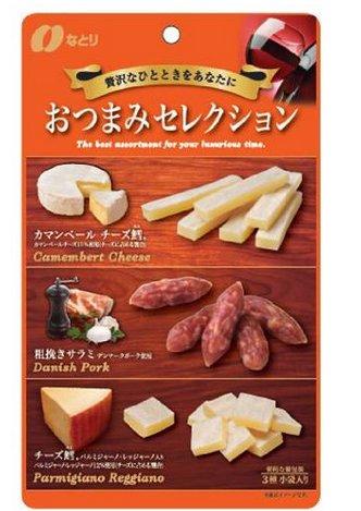 納多利 natori 芝士 鳕魚 豬肉腸三種美味小吃63gD-詳情-圖片1