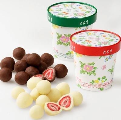 北海道 六花亭 整顆草莓夾心黑白巧克力-詳情-圖片1