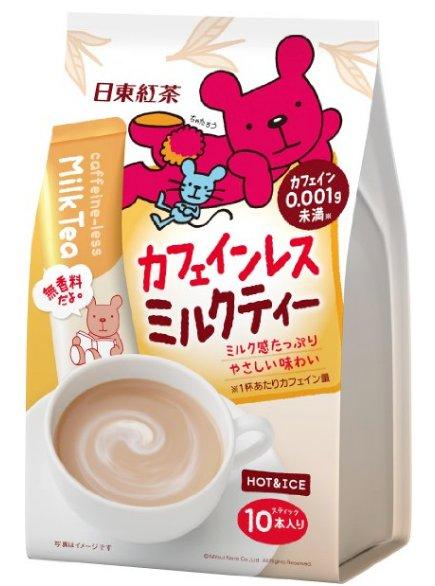 日東紅茶系列 小熊低咖啡因奶茶10包入-詳情-圖片1