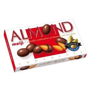 明治MEIJI杏仁夾心巧克力88g 不怕胖 可可脂含量高帶減肥效果-詳情-圖片1