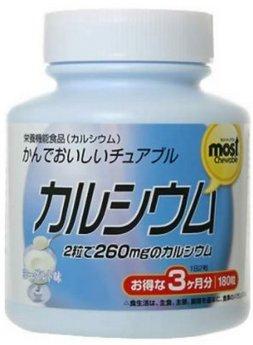 日本ORIHIRO 孕婦兒童青少年中老年可服酸奶味鈣片180粒-詳情-圖片1
