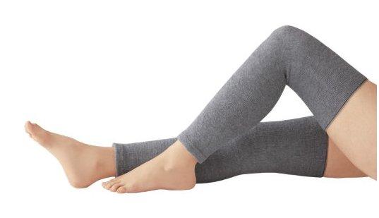 備長炭發熱恒溫護膝2枚裝老寒腿膝蓋痛保溫保暖 H-詳情-圖片1