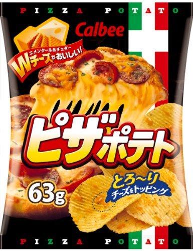calbeeピザポテト批薩味薯片63g-詳情-圖片1