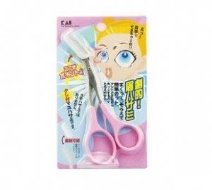 貝印KAI粉紅佳人 神奇修眉毛剪刀 帶眉梳-詳情-圖片1