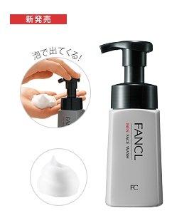 Fancl无添加 男士洁面液洗面奶 泡沫型180ml-详情-图片1