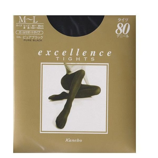 Kanebo Excellence tights Pure Black-detail-image1