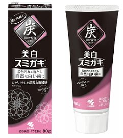 Japan Kobayashi Pharmaceutical Fall 2014 new version of the whitening charcoal toothpaste mint tea-detail-image1
