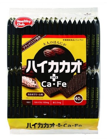 Haikakao plus Ca ? Fe wafer cacao cream taste 40 sheets-detail-image1