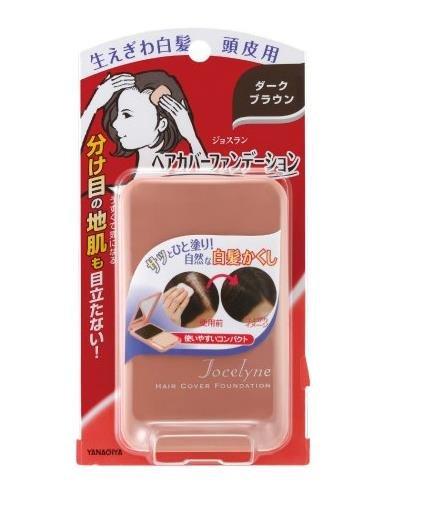 柳屋 遮蓋頭皮 染髮膏 白髮用 粉餅 男女通用-詳情-圖片1